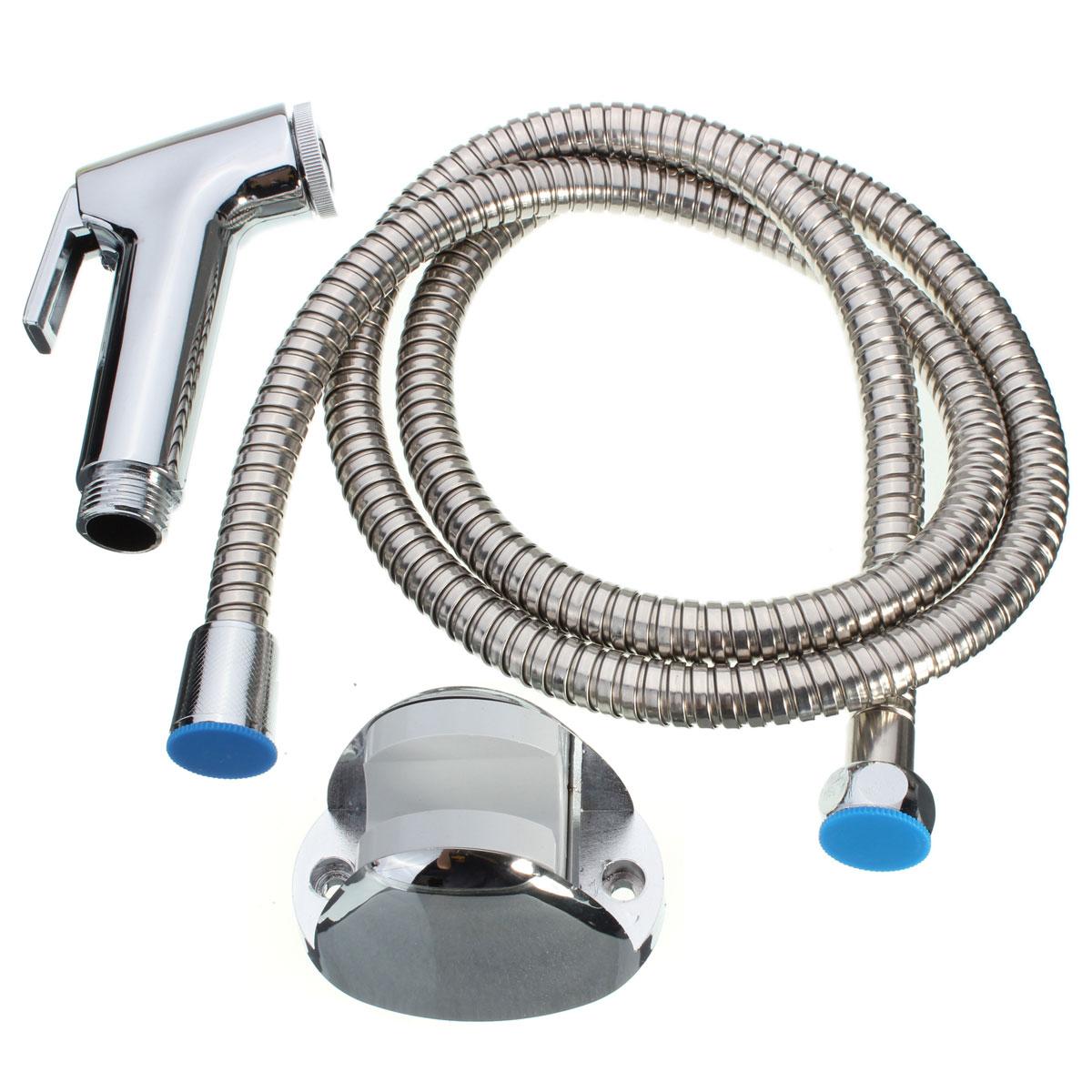 Fixado Na Parede do banheiro Pulverizador Multifunções Wc Handheld Bidé Spray Cabeça de Chuveiro Conjunto Chuveiro Accessiories Tubo 140 centímetros
