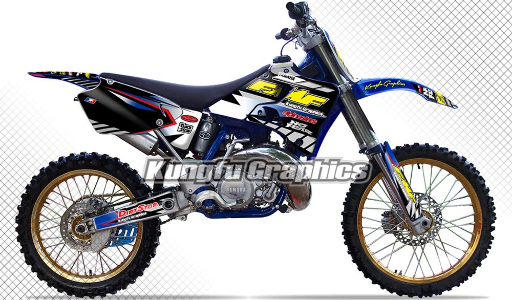 US $129 89 |KUNGFU GRAPHICS Dirt Bike Stickers Custom Vinyl Decals Kit  Wraps for Yamaha YZ 125 250 YZ125 YZ250 1996 1997 1998 1999 2000 2001-in  Decals
