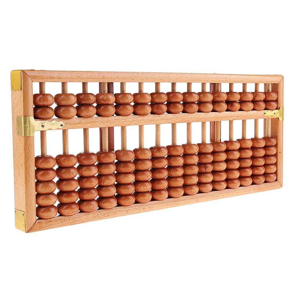 Bois 15 rangées chinois Abacus calculatrice calcul arithmétique outil mathématique jouets éducatifs cadeau pour enfants adulte