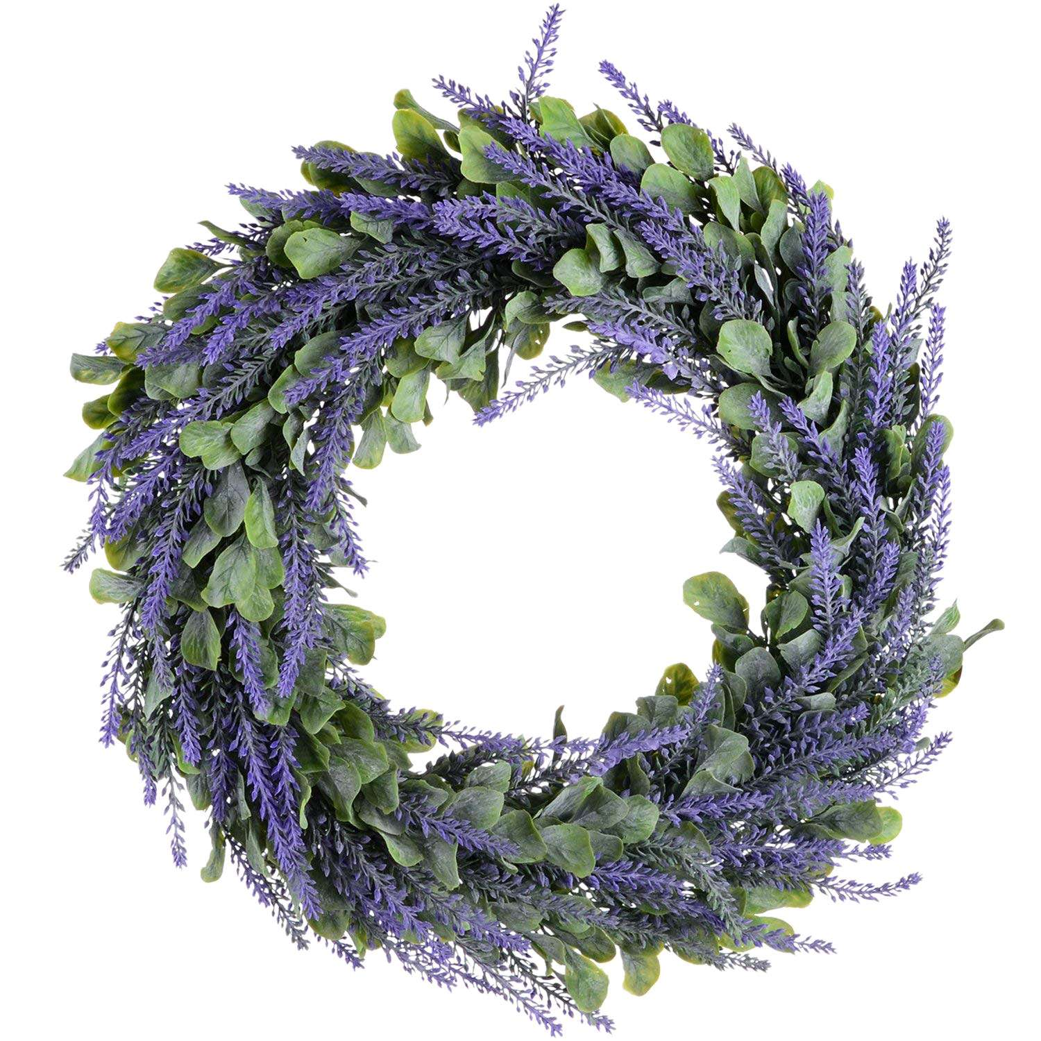 Artificial Wreath, Door Wreath 17 Inch Lavender Spring Wreath Round Wreath for The Front Door, Home DecorArtificial Wreath, Door Wreath 17 Inch Lavender Spring Wreath Round Wreath for The Front Door, Home Decor