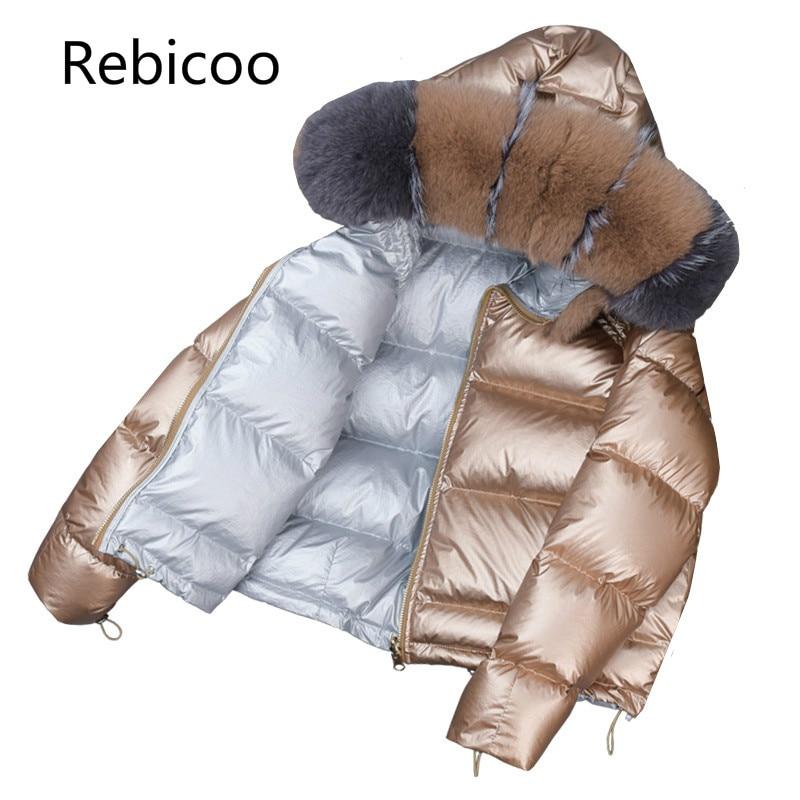 Brand Winter Women Fox big fur collar Jacket Korea Down cotton Loose Thick Short Outerwear   Parkas   Female Hooded Coats
