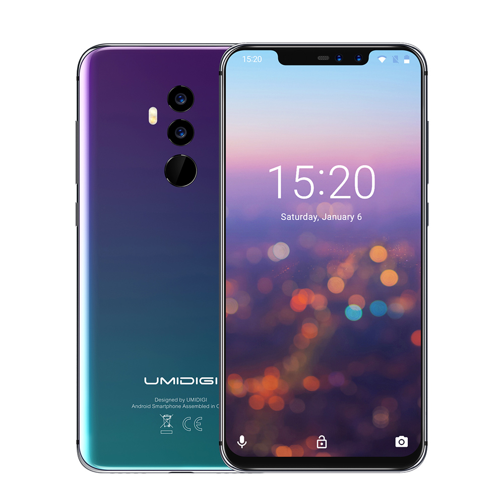 UMIDIGI Z2 PRO 4G Smartphone Phablet 6.2 Inch Android 8.1 Helio P60 2.0GHz Octa Core 6GB+128GB 16.0MP+8.0MP 3550mAh Mobile Phone