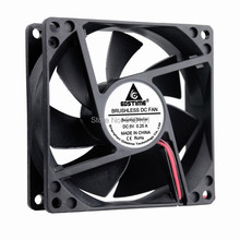 2 Pieces Gdstime 8cm 80mm 8025 80x80x25mm 2Pin DC 5V Case Cooling Fan