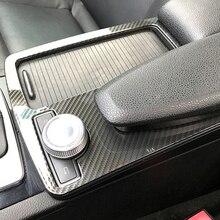 Пескоструйная обработка поверхности высокое качество Нержавеющаясталь автомобильный держатель стакана воды крышка отделка комплект для Mercedes Benz C Class W204