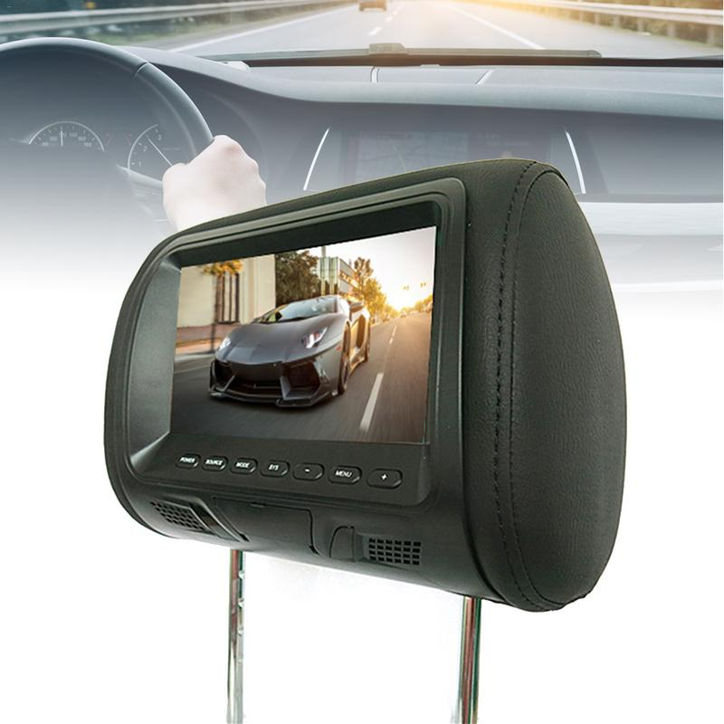 2 pc 7 pouce Arrière-Monté Voiture Appui-Tête Universel DC12 HD Écran Numérique Image 480x230 LCD Appui-Tête TV Affichage Avec OSD PAL/NTSC