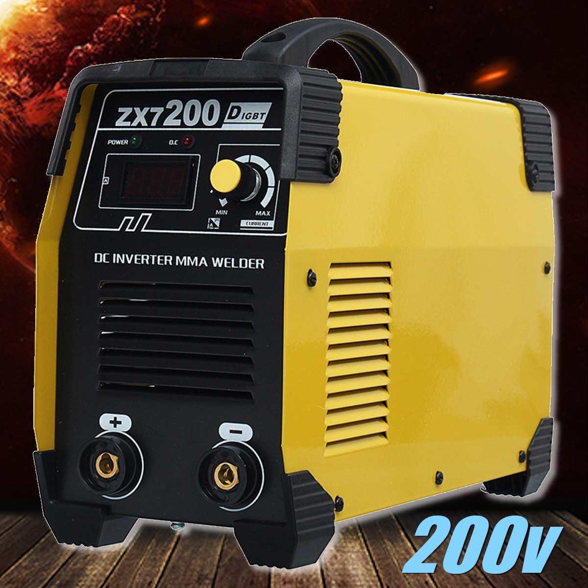 ZX7 200 220V Mini Portable Inverter DC Welders IGBT Welding Machine 20 200A Manual Home Arc Welders Welding Equipment Tools