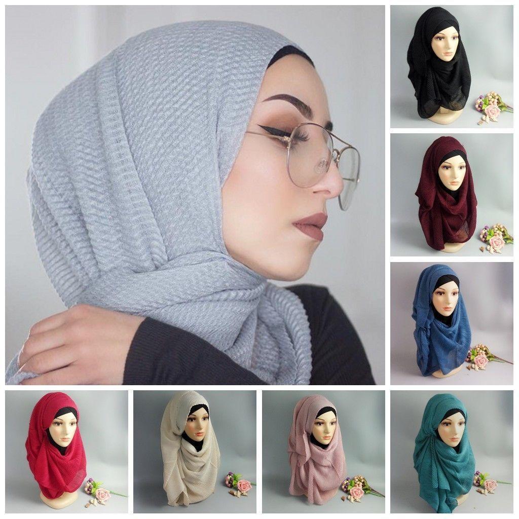 180*85CM Women Muslim Stretch Turban Hat Long   Scarf     Wrap   Chemo Cap Hair Loss Head   Scarf   Soft Prayer Hat Fashion Pashmina Cape