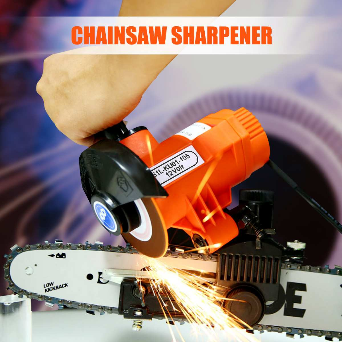 12V 85W Bar Mounted Electric Chainsaw Saw Blade Sharpener Grinder Set 4500RPM For Working Wood Power Tools