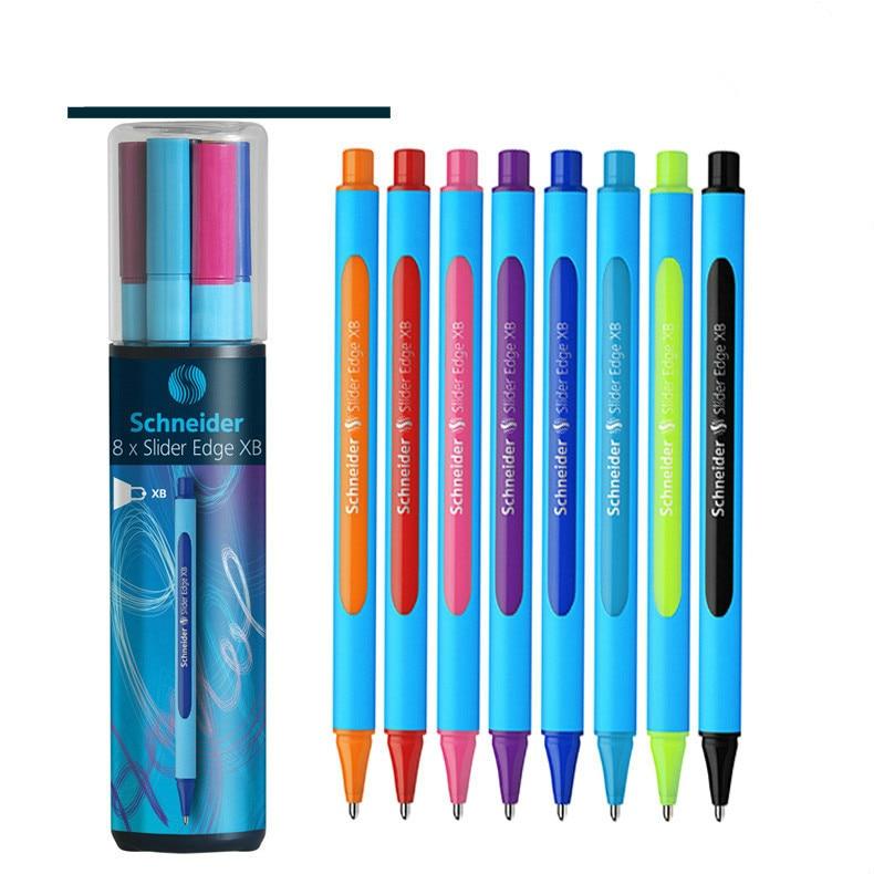8 Colors/Set Germany Schneider Drawing Pen Set Neutral Oily Ballpoint Pen Edge-XB 0.8mm XB Nib Student School Stationery Gift x556uak xb