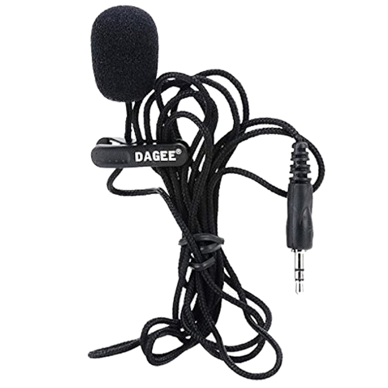 Computer & Office Independent Dagee Imtc Lavalier 2m 3.5mm Microphone Headset For Micor High Quality Dagee Dg-001 Mic Mini Portable Microphone For Improving Blood Circulation