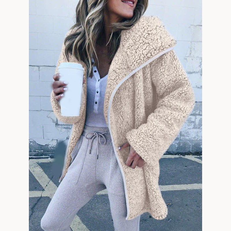 Women Faux Fur Teddy Coat Fashion Slim Fur 2018 Winter Warm Fur Jacket Elegant Female Lapel Overcoat Plus Size Coat Outerwear
