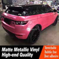 Highest quality Matt Car Body Film pink car wrap material vehicle vinyl with Air Bubble Warranty 5 years real picture show