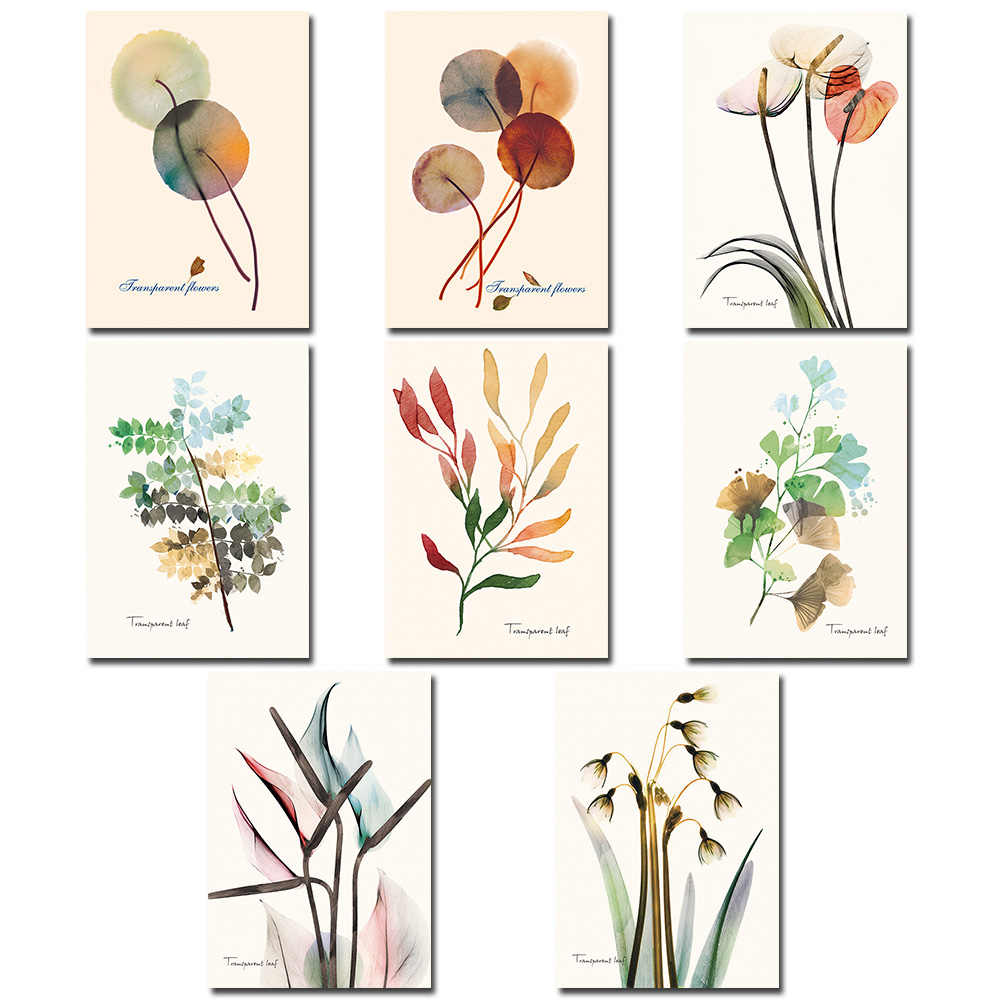 Nordic Plants Flowers Art Wall Painting Unframed Print Picture Living Room Decor