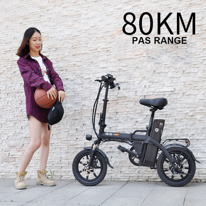 Daibot Foldable E Scooter Two Wheels Electric Bicycle 14 inch 48V 300W 80KM Mini Portable Folding Electric Bike Adults Womens