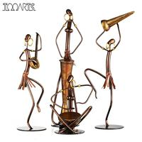 Tribe Band Tooarts Metal Sculpture Handmade Craft Indoor Decor Band Statue Figurine Music vintage home decor figurine pop
