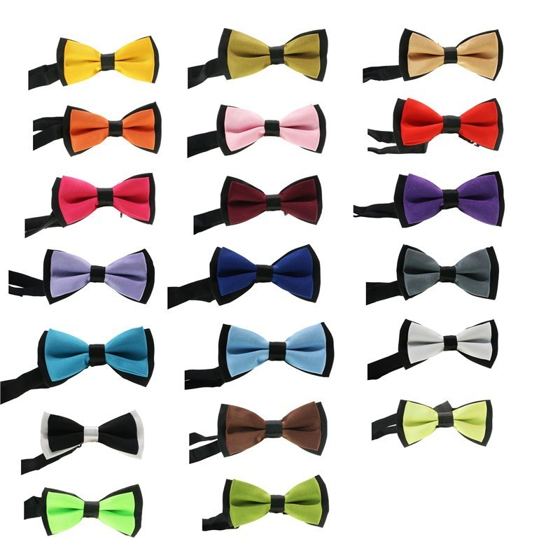 Classic Kid Suit Neckwear Baby Boy's Baby Fashion Solid Color Adjustable Bowtie Chlidren Patched Tone Pet Dog Cat Bow Tie