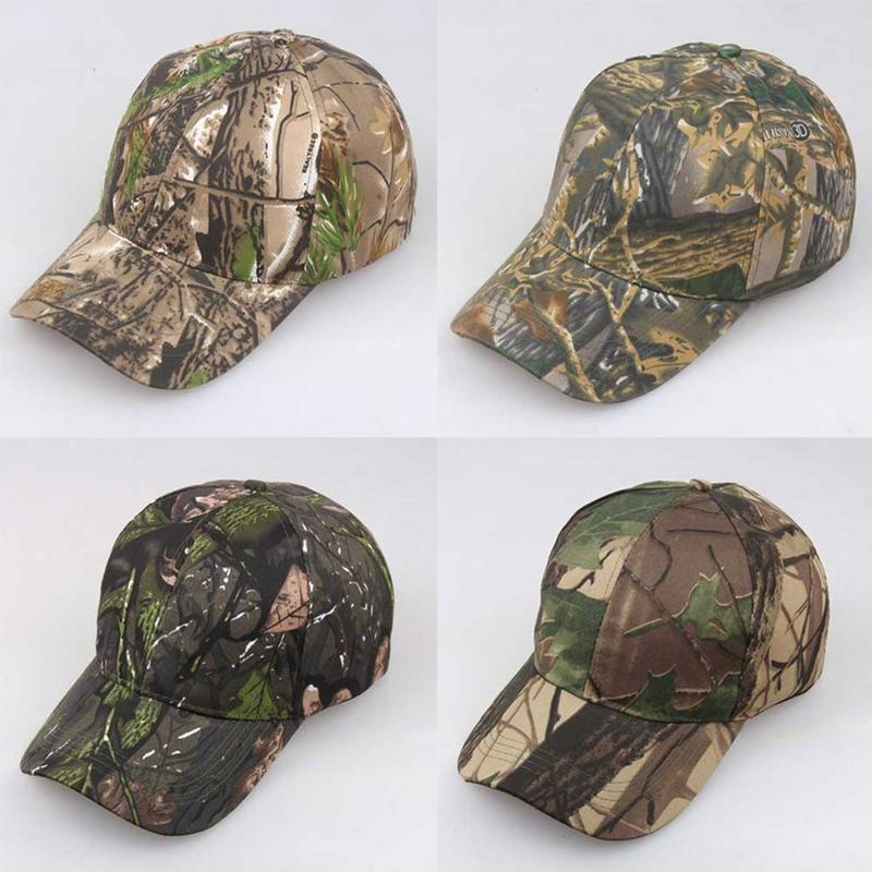 Outdoor Sunscreen Quick-Drying   Cap   Jungle Leaves Camouflage   Cap   Unisex Men And Women Camo   Baseball     Cap   Hat Casquette