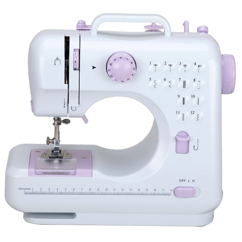 Mini 12 points Machine à coudre ménage multifonction Double fil et vitesse bras libre artisanat Machine de réparation prise ue