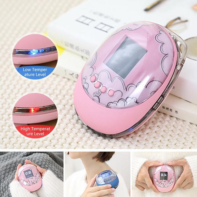 Best Offers Portable Pink Egg-shaped Hand Warmers Treasure Creative Silicone USB Charging Mobile Power Large Capacity Small Hand Warmers