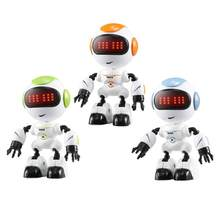 R8 Touch Sensing LED Eyes RC Robot Toys Smart Voice DIY Body Gesture Model Toy For Child Christmas Gift(China)