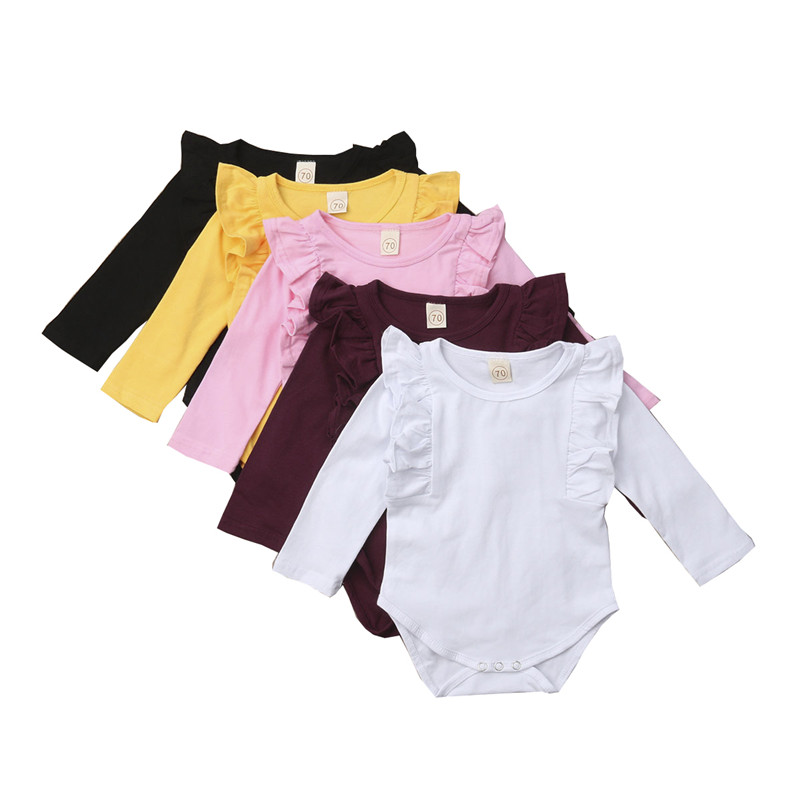 Cute Solid Color Newborn Baby Boy Girl Velvet Bodysuit Short Sleeve Jumpsuit Summer Autumn Play Suit Clothes Pudcoco Bodysuits Buy One Give One Mother & Kids Bodysuits & One-pieces