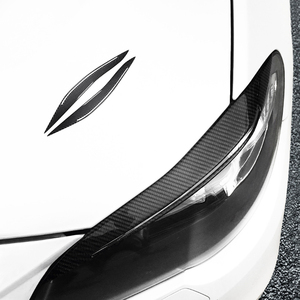 Image 2 - Передняя фара для BMW 5 Series F10 2010 2011 2012 2013 2014 2015 2016 из углеродного волокна, накладки на веки бровей