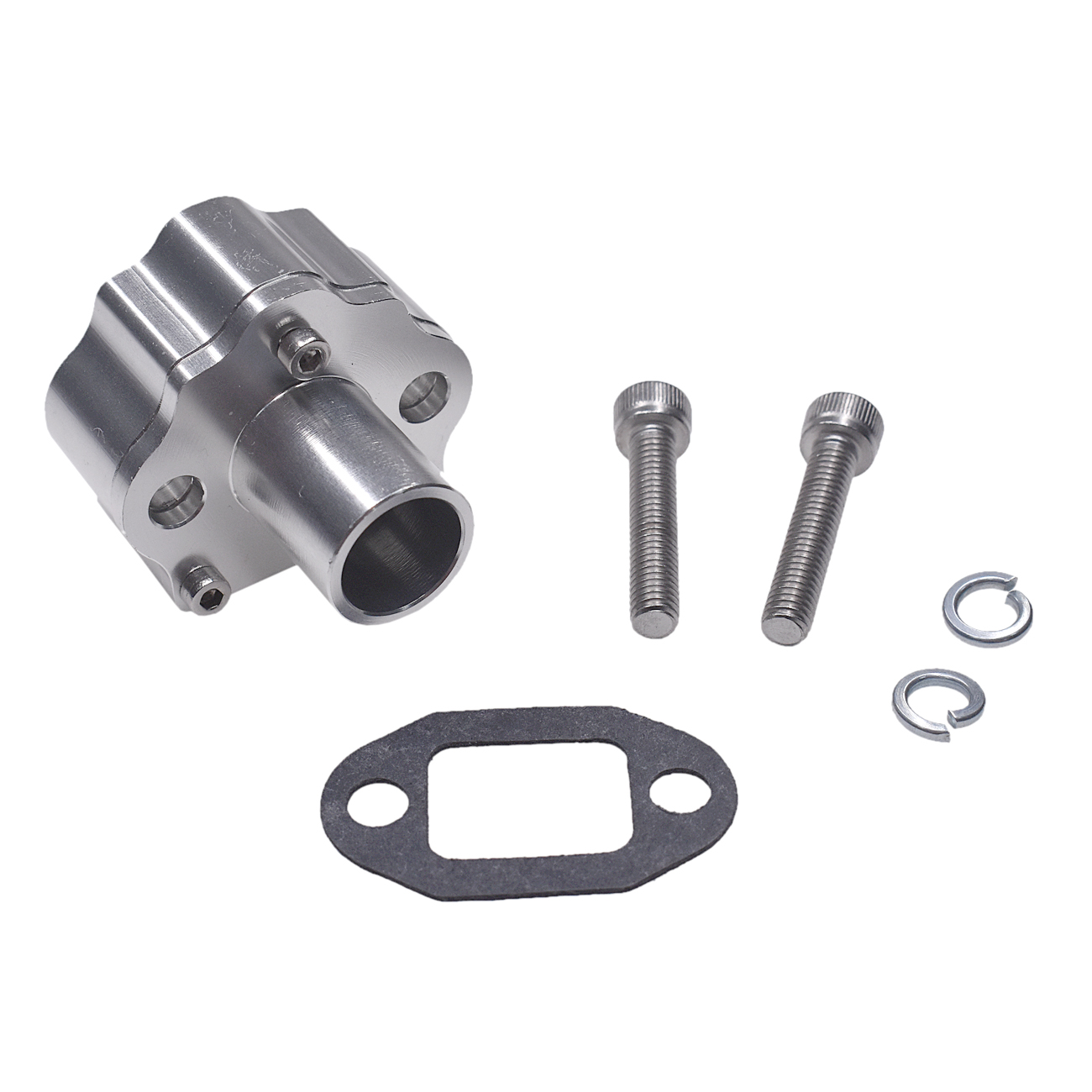 Silver 32mm Reed Valve Air Manifold Intake For 60cc 66cc 80cc Motorized Bike