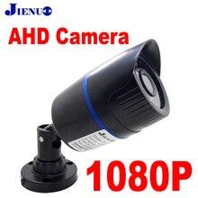 JIENUO cámara AHD 1080p de vigilancia analógica, visión nocturna infrarroja, CCTV de seguridad para hogar, interior, exterior, bala, cámaras Full Hd de 2mp