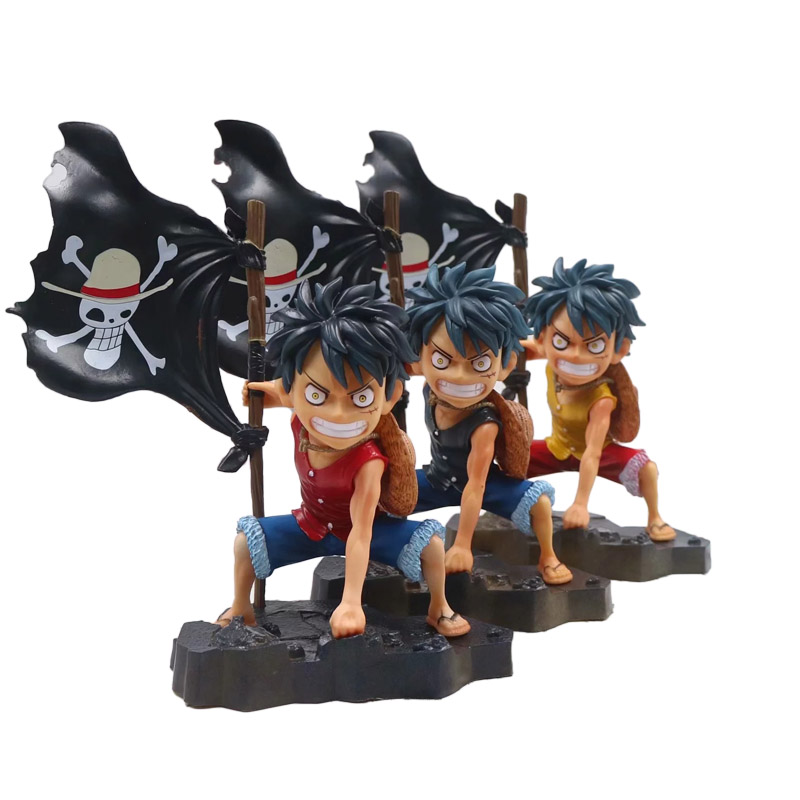 One Piece with skull pirate flag Monkey D. Luffy model Action Figure