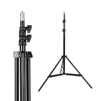 SUPON фотостудия регулируемый 180 см осветительная стойка фото штатив с 1/4 винтовая головка для вспышки Зонты отражатель освещение