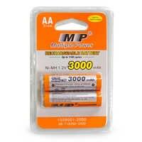 2x AA 3000mAh 1,2 V calidad batería recargable Ni-MH AA 3000mAh MP Recarregavel 2A batería baterías batería Batterie
