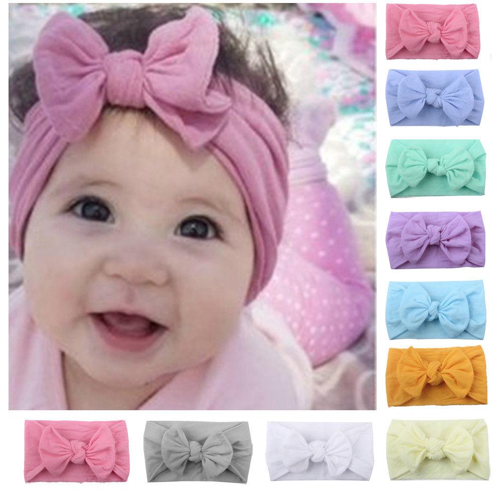 Cute Kids Girls Toddler Newborn Big Headband Headwear Hair Bow Accessories HOT