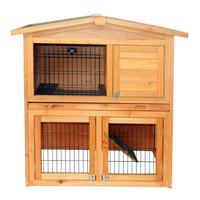 40 inch Pet Cage Triangle Roof Rabbit Hutch Waterproof Wooden A Frame Small House for Chicken Pet Cage Coop
