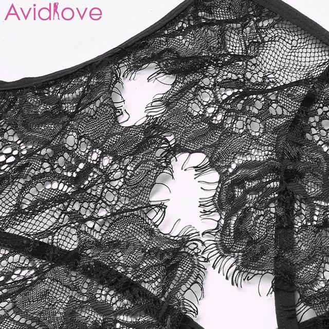 Avidlove Women Sex Erotic Lingerie Lace Plus Size Sexy Spaghetti Strap Skirt Bra Summer Women Sexy Lingerie Set