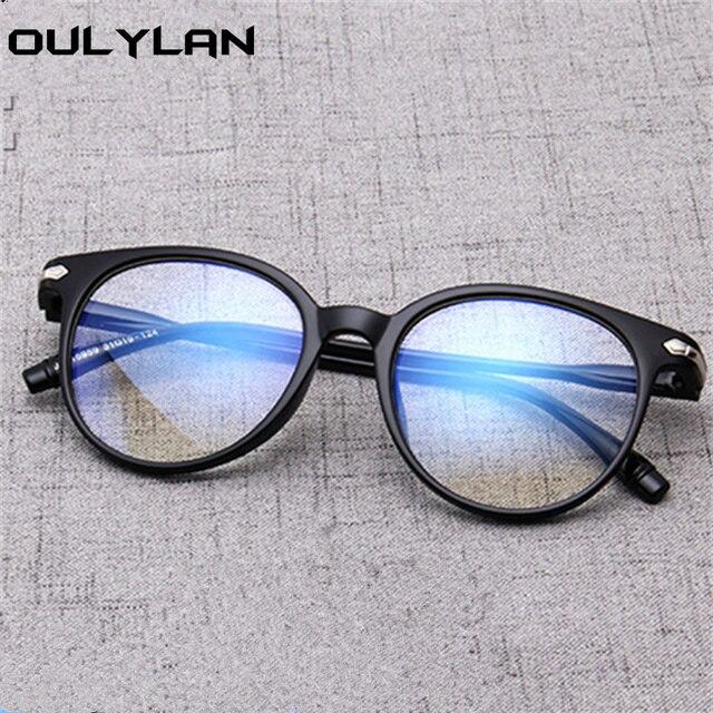 b566edaf97 Oulylan Women Glasses Frame Fashion Vintage Fake Glasses Men Eyeglasses  Frames Clear Lens Retro Round Optical
