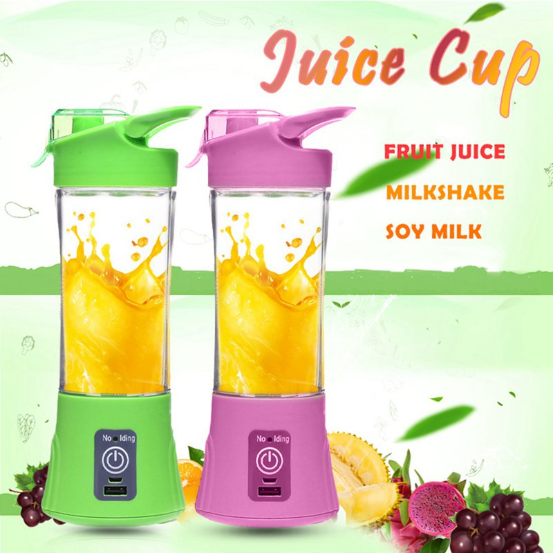 Green fashion Rechargeable juicer multi-function electric juice cup home portable mini fruit