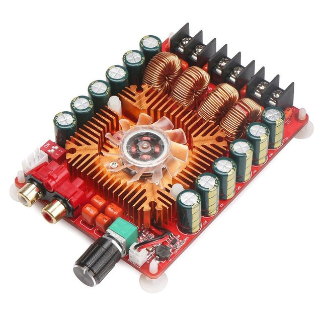 TDA7498E 2X160W Dual Channel Audio Amplifier Board, Support BTL Mode 1X220W Single Channel, DC 24V Digital Stereo Power Amp Mo