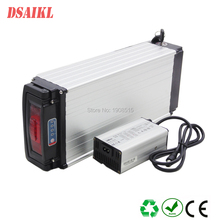 EU US no tax great power 48V 15Ah 17Ah 20Ah 25Ah 28Ah 500W 750W electric bike rear rack battery pack with charger