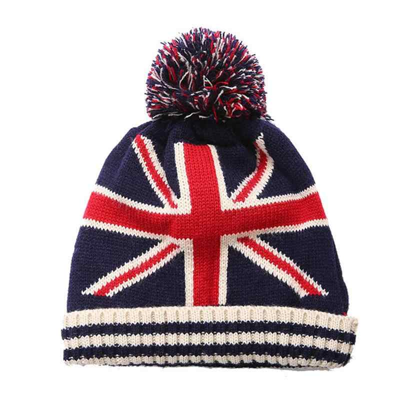 ... American UK Flag Beanie Hat Winter Warm Wool knitted Caps For Man Women  Skullies Cool Beanies ... f232ae2cca1