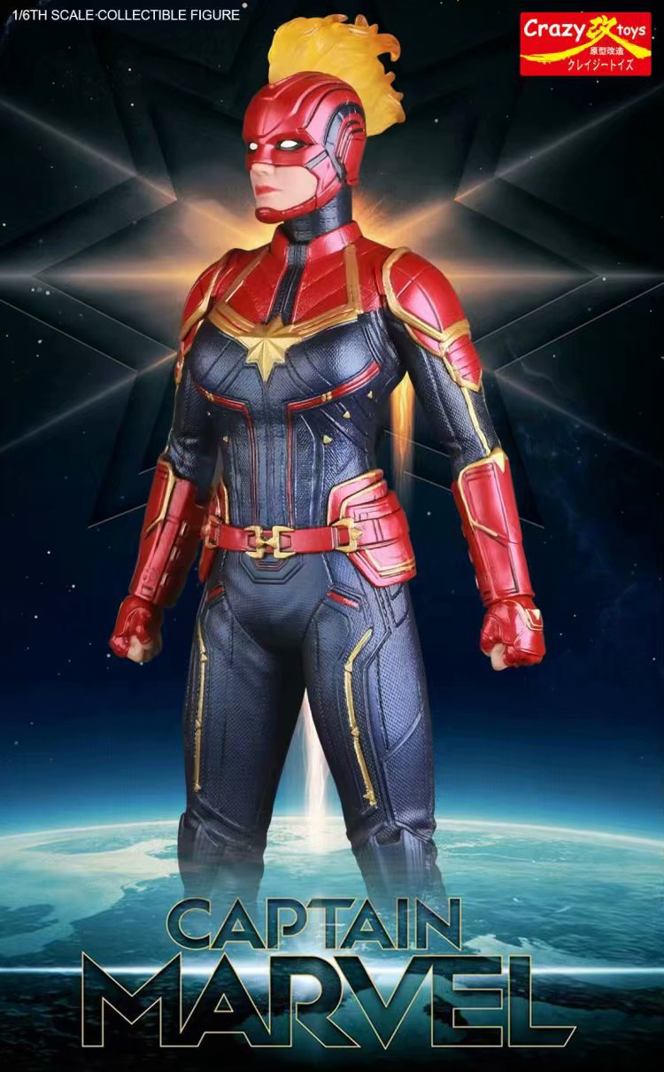 28cm New Movie Captain Marvel Action Figure Marvel SuperHero Avengers Endgame Collectible Statues Model Crazy Toys Gifts in Action Toy Figures from Toys Hobbies