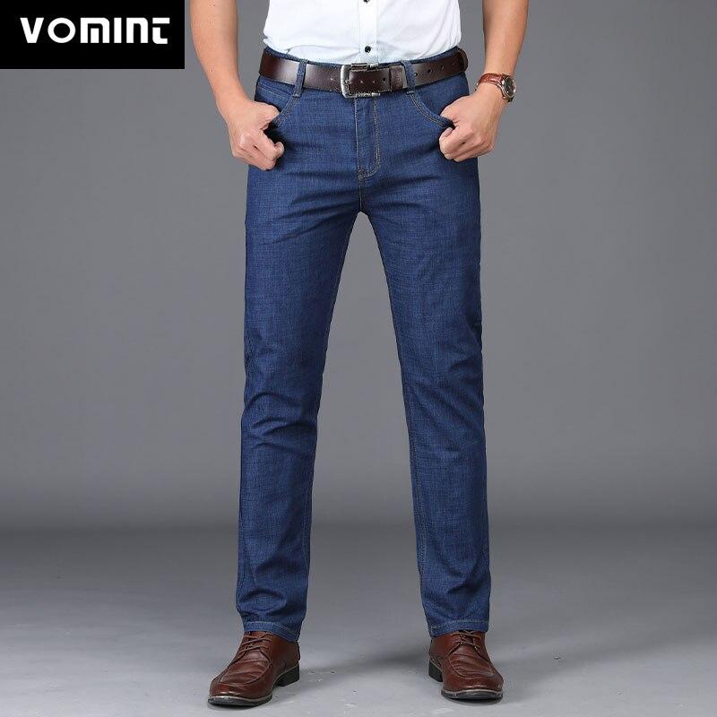 Vomint 2019 New Men   Jeans   Regular Straight Feet   Jeans   Loose Waist Business gentleman Long Casual Trousers MS1876