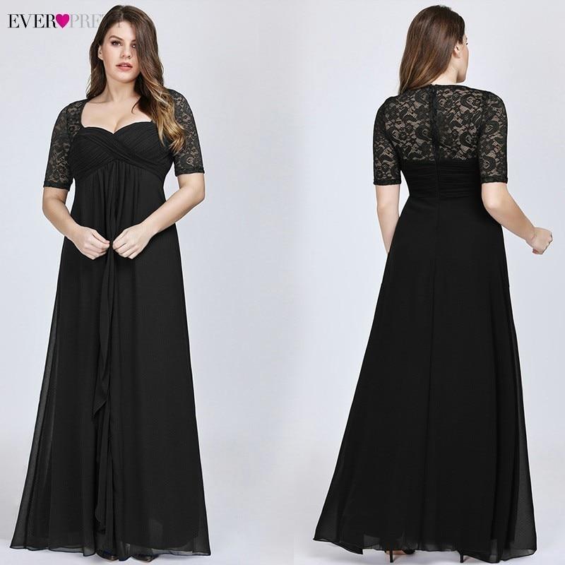 Plus Size Mother Of The Bride Dresses Ever Pretty Navy Blue Lace Formal Wedding Party Dress EZ07625 Abito Mamma Sposa Taffeta