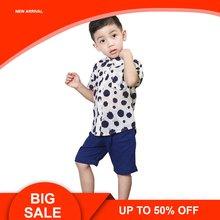 Одежда для маленьких мальчиков летняя детская одежда Комплекты