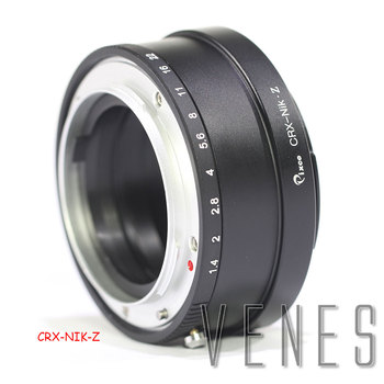 Pixco For CRX-Z6,Z7 Lens Mount Adapter Ring Suit For Contarex CRX Mount Lens to Suit for Nikon Z Mount Camera Z6 Z7 фото