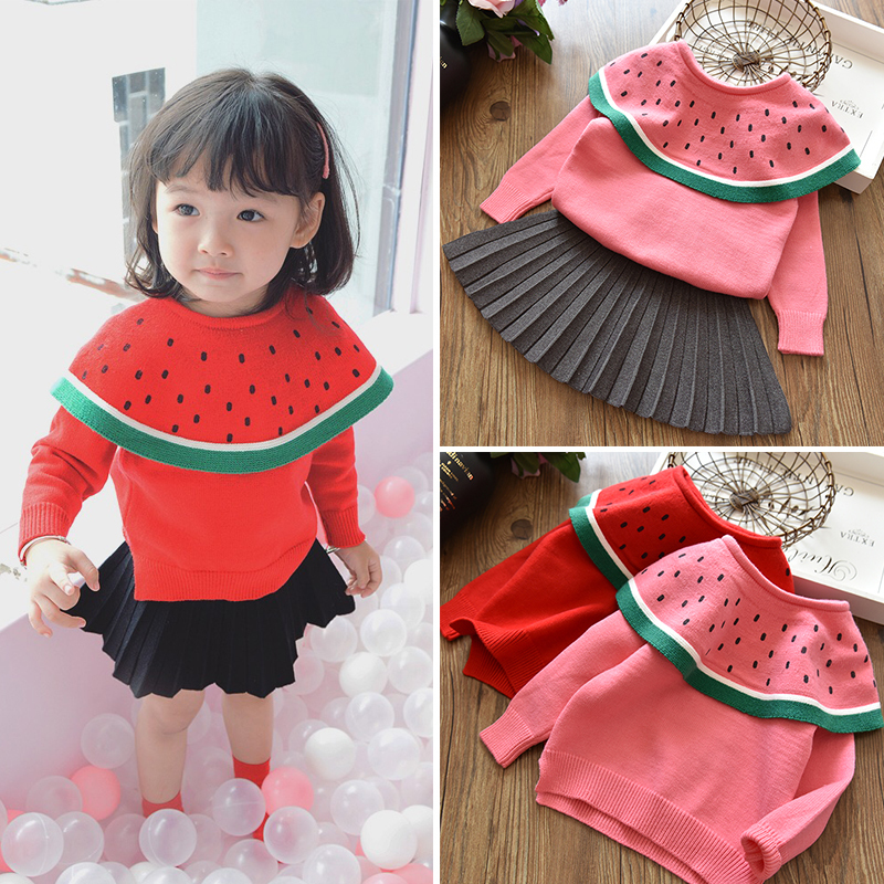 Winter Autumn Toddler Girl Sweater Baby Coats Cute Knit dot Clothes Children Cotton Jacket Knitting For Girls Beautiful Clothing