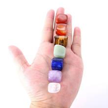 Натуральные 7 кристаллов лечебные опутанные камни Йога чакра неправильной формы восстанавливающие кристаллы рейки камень