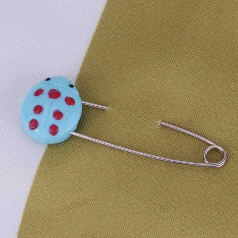 4/6 個プラスチックヘッド安全ピン幼児子供の布おむつロックバックルベビーケアおむつクリップブローチホルダー