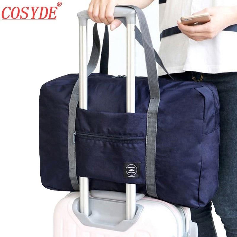 Free Shipping 2019 New Nylon Foldable Travel Bag Unisex Large Capacity Bag Luggage Women WaterProof Handbags Men Duffle Bags