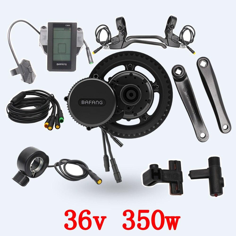 Livraison gratuite 36 V 350 W 8fun/bafang C965 moteur BBS01 manivelle moteur électrique vélos tricycle ebike kits