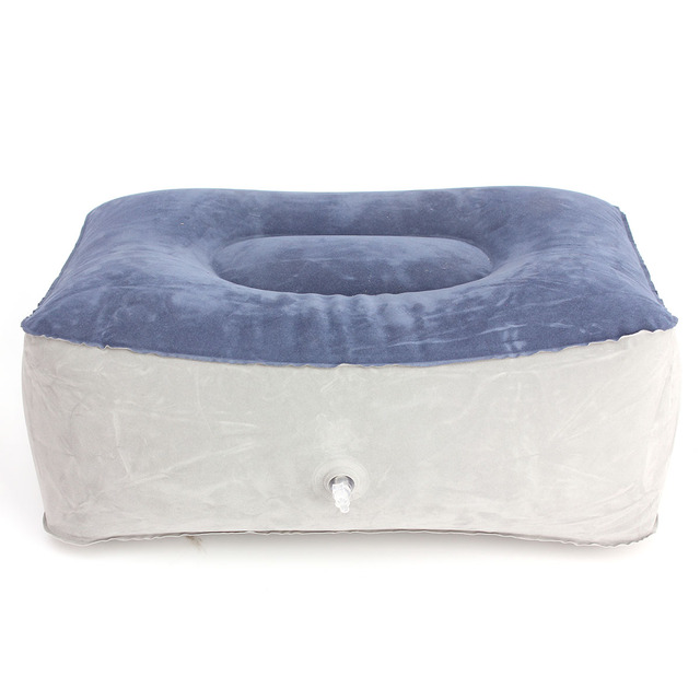 2 piezas inflable de viaje pierna arriba pies pie reposapiés almohada reclinable cojín hogar Oficina avión tren barco